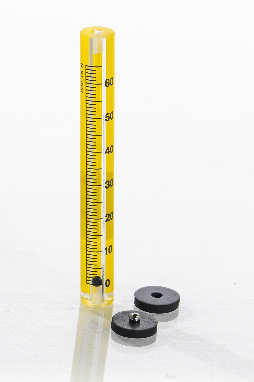 SP Bel-Art Riteflow Borosilicate Glass Unmounted Flowmeter; 65mm Scale, Size 2