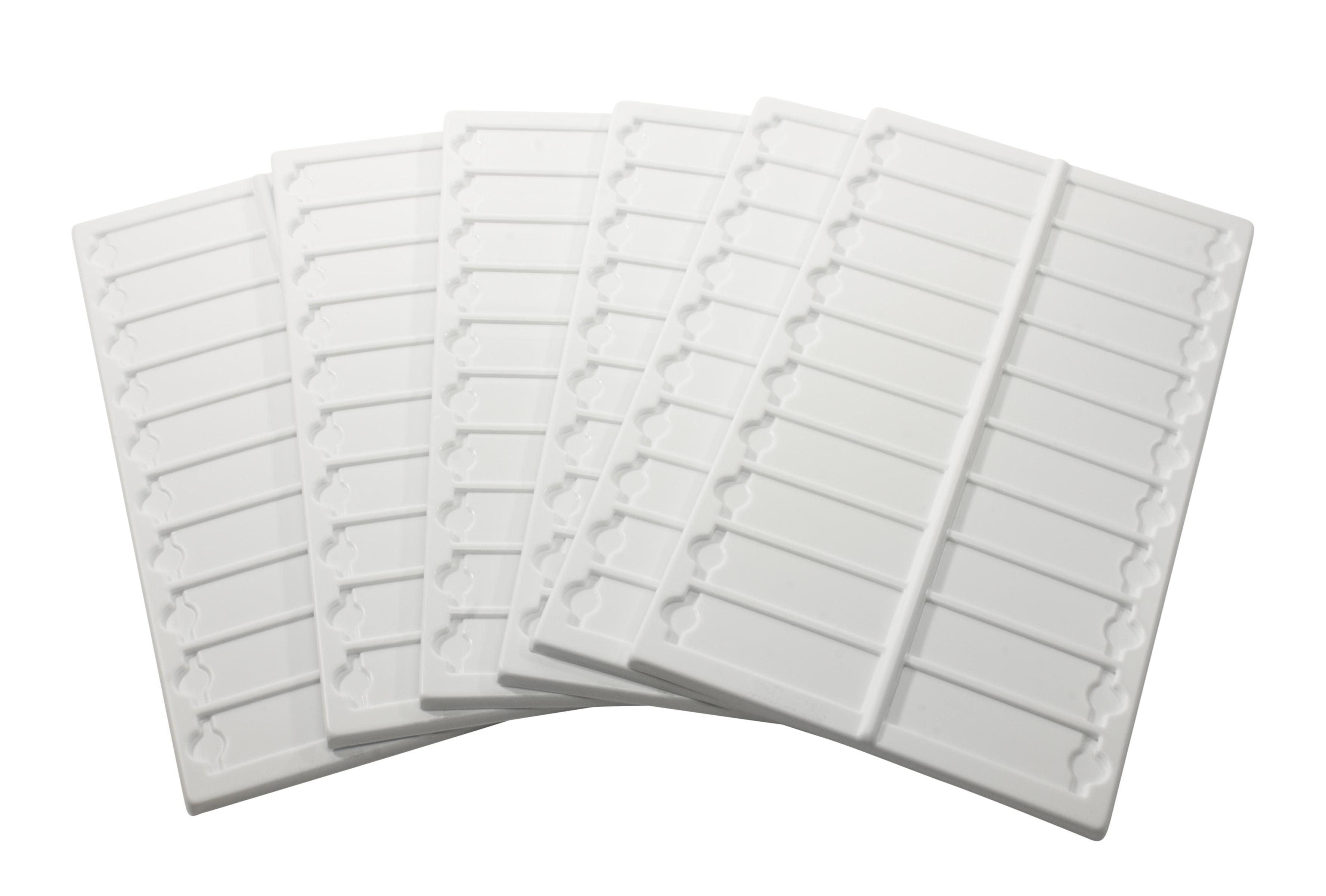 Bel-Art Microscope Slide Tray; 20 Capacity, 13½ x 6 ⅝ in., Plastic (Pack of 6)