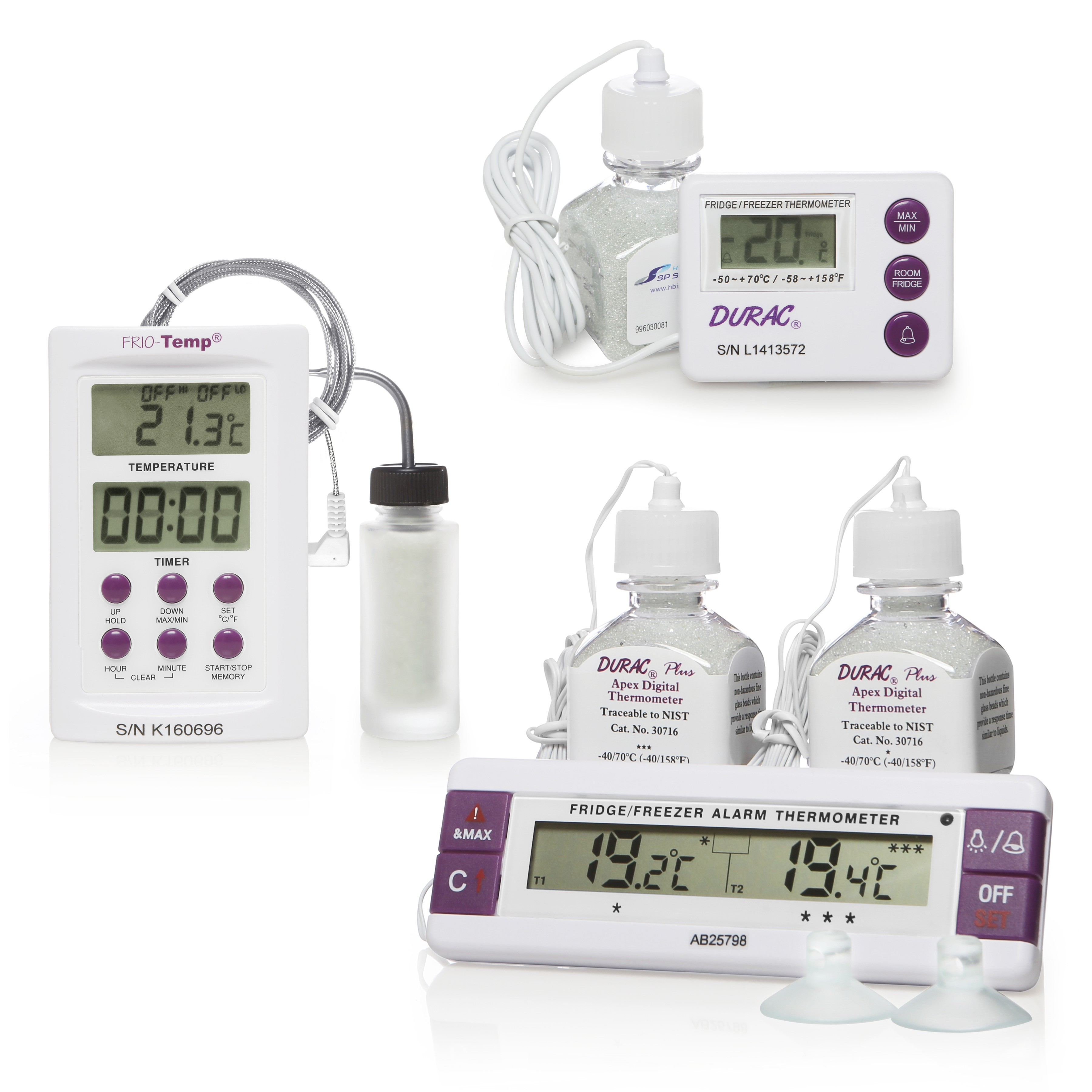 H-B Frio-Temp Calibrated Electronic Verification Thermometers for Freezers, Refrigerators and Incubators