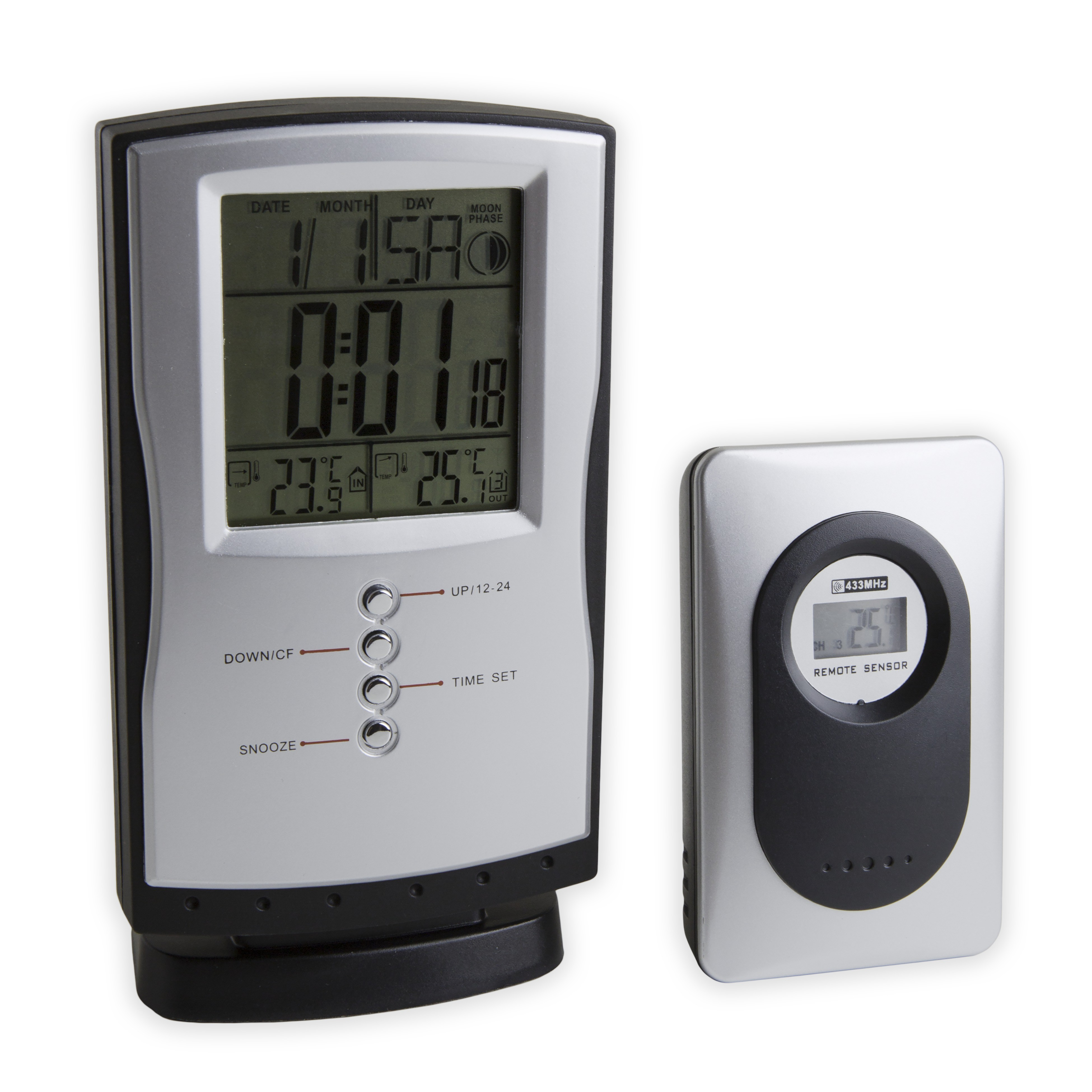 SP Bel-Art, H-B DURAC Indoor/Outdoor Weather Station with Moon Phases, Temperature Trend, Max/Min Memory and Temperature Alert