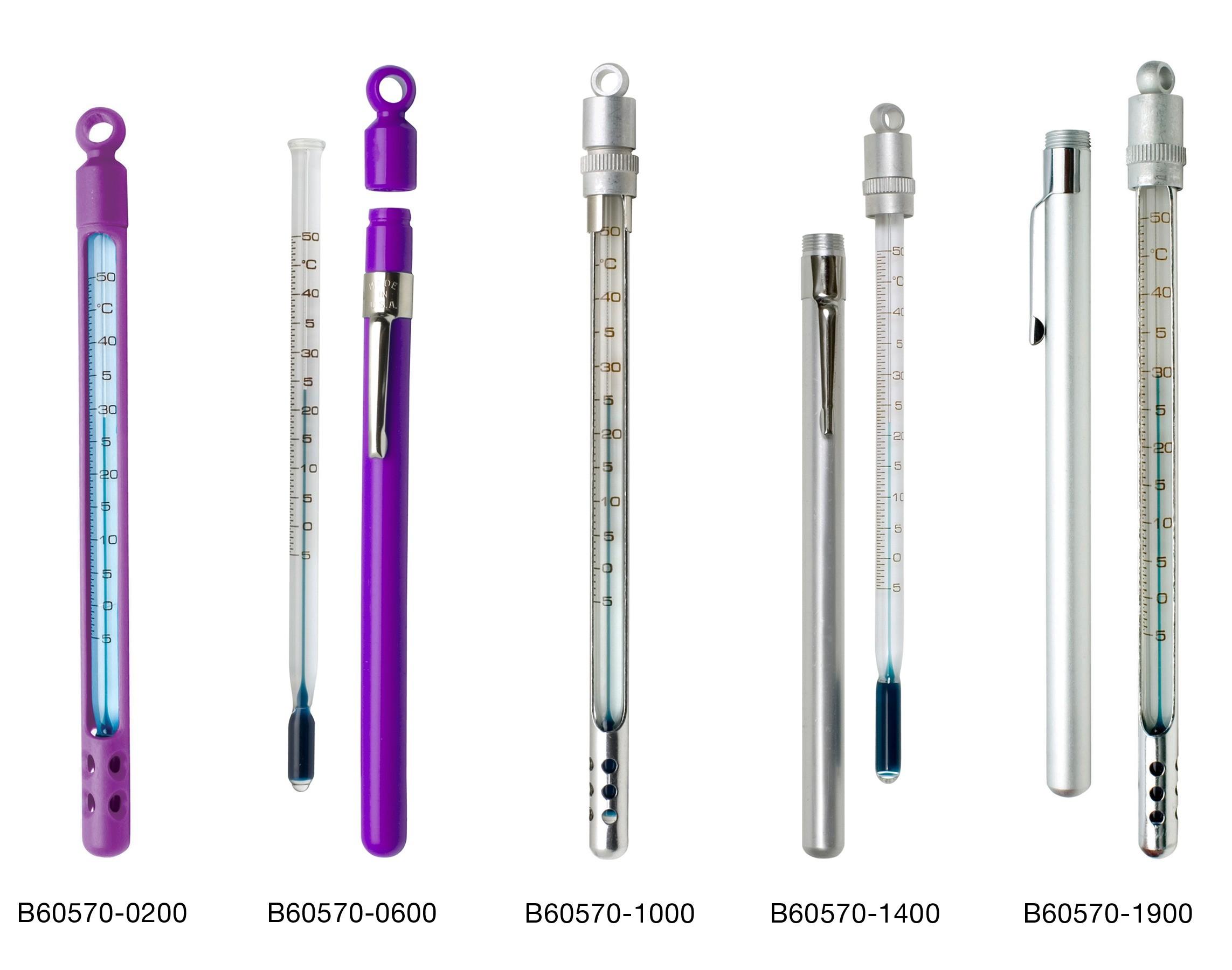 H-B Enviro-Safe® Environmentally Friendly Liquid-In-Glass Pocket Laboratory Thermometers