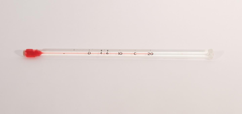 H-B DURAC Blood Bank Liquid-In-Glass Refrigerator Thermometers, Organic Liquid Fill