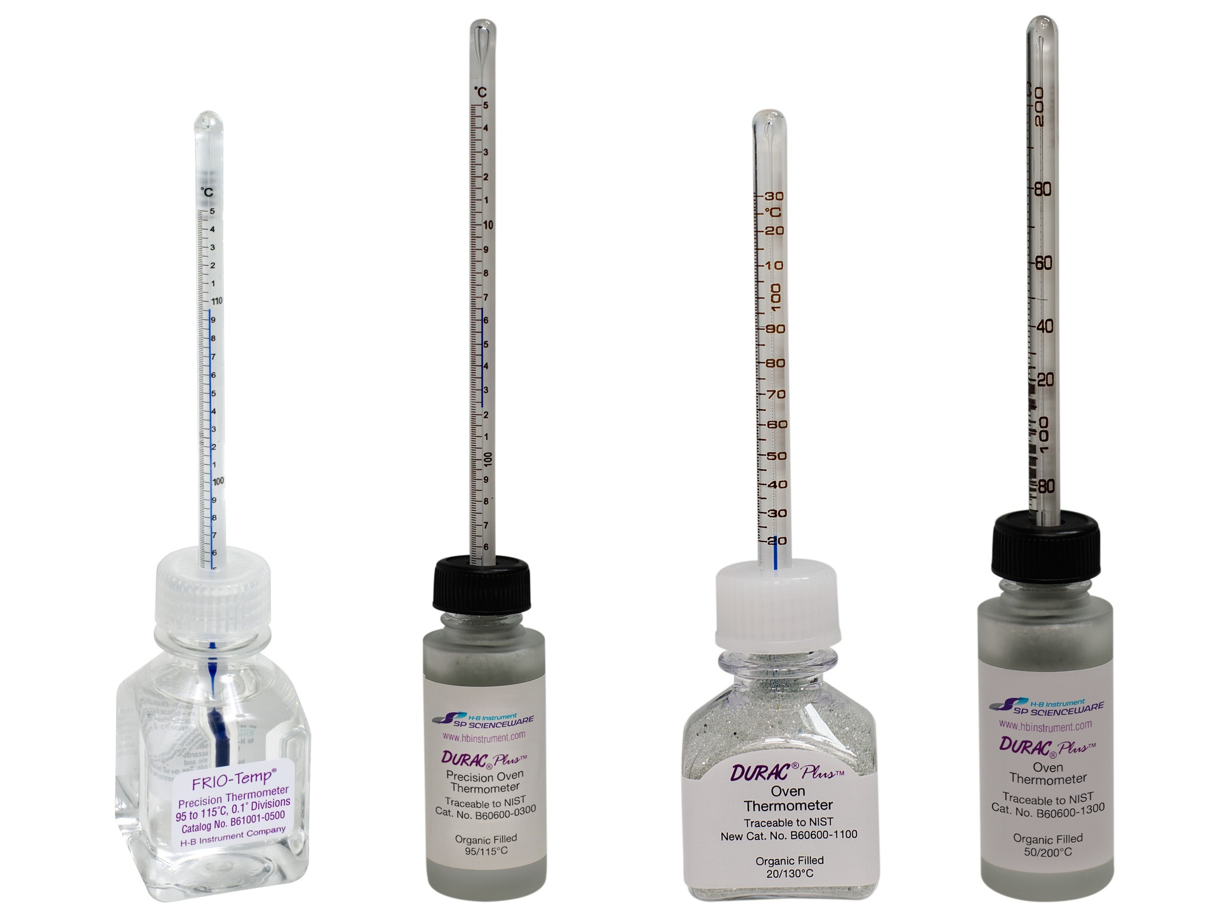 H-B FRIO-Temp and DURAC Plus Incubator Verification Thermometers; Traceable to NIST