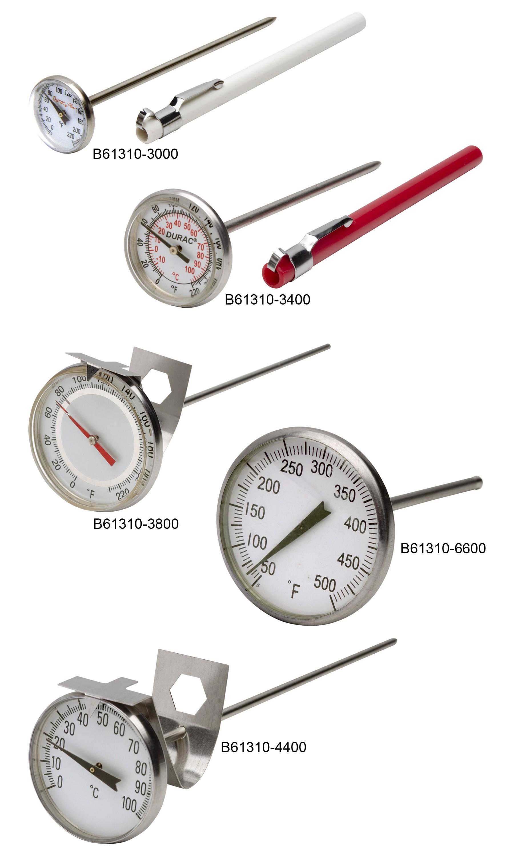 SP Scienceware 61310-6100 DURAC Bi-Metallic 2 Dial Thermometer Pack of 7 pcs