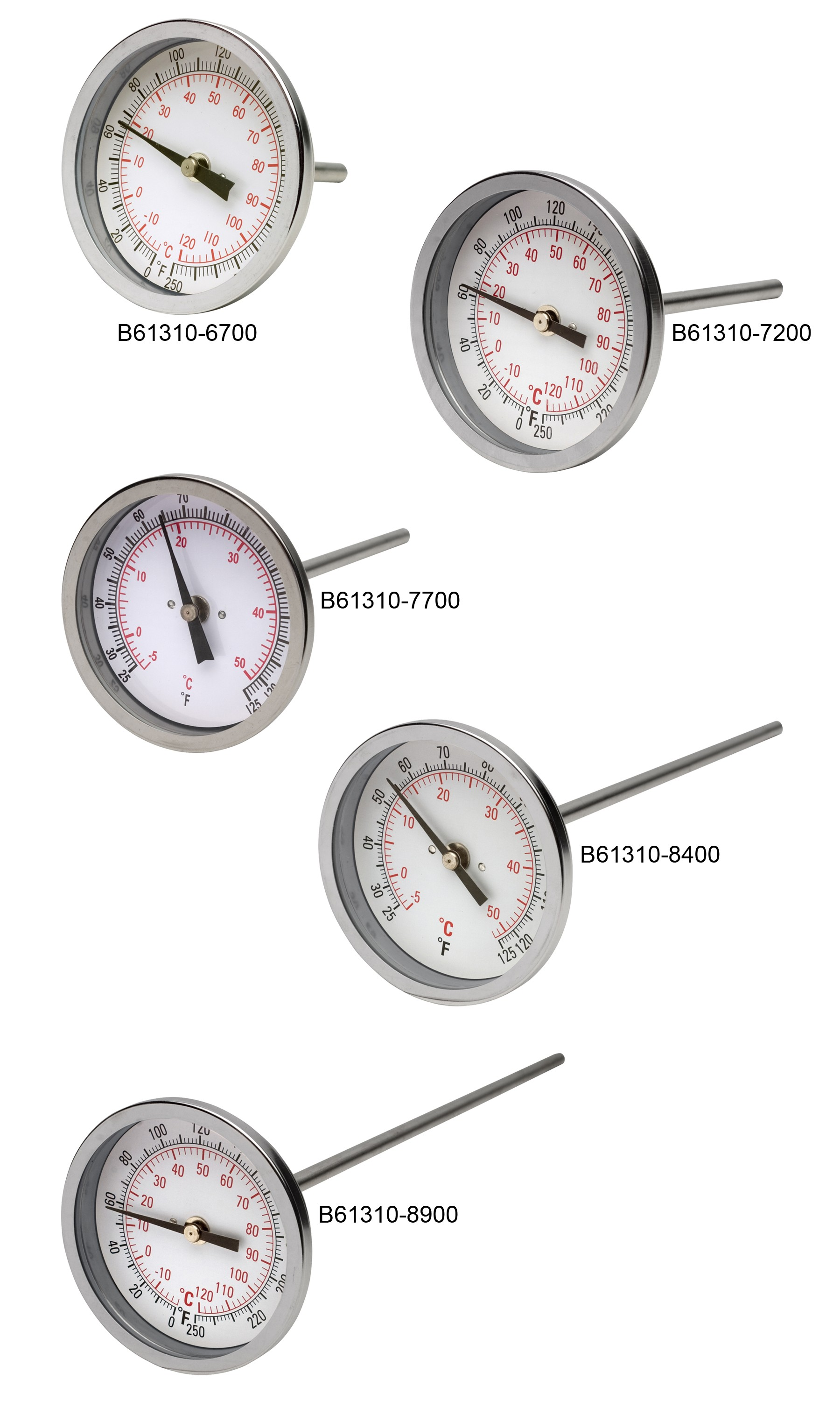 """H-B DURAC Bi-Metallic Dial Thermometer with 1/2"""" NPT Threaded Connection"""