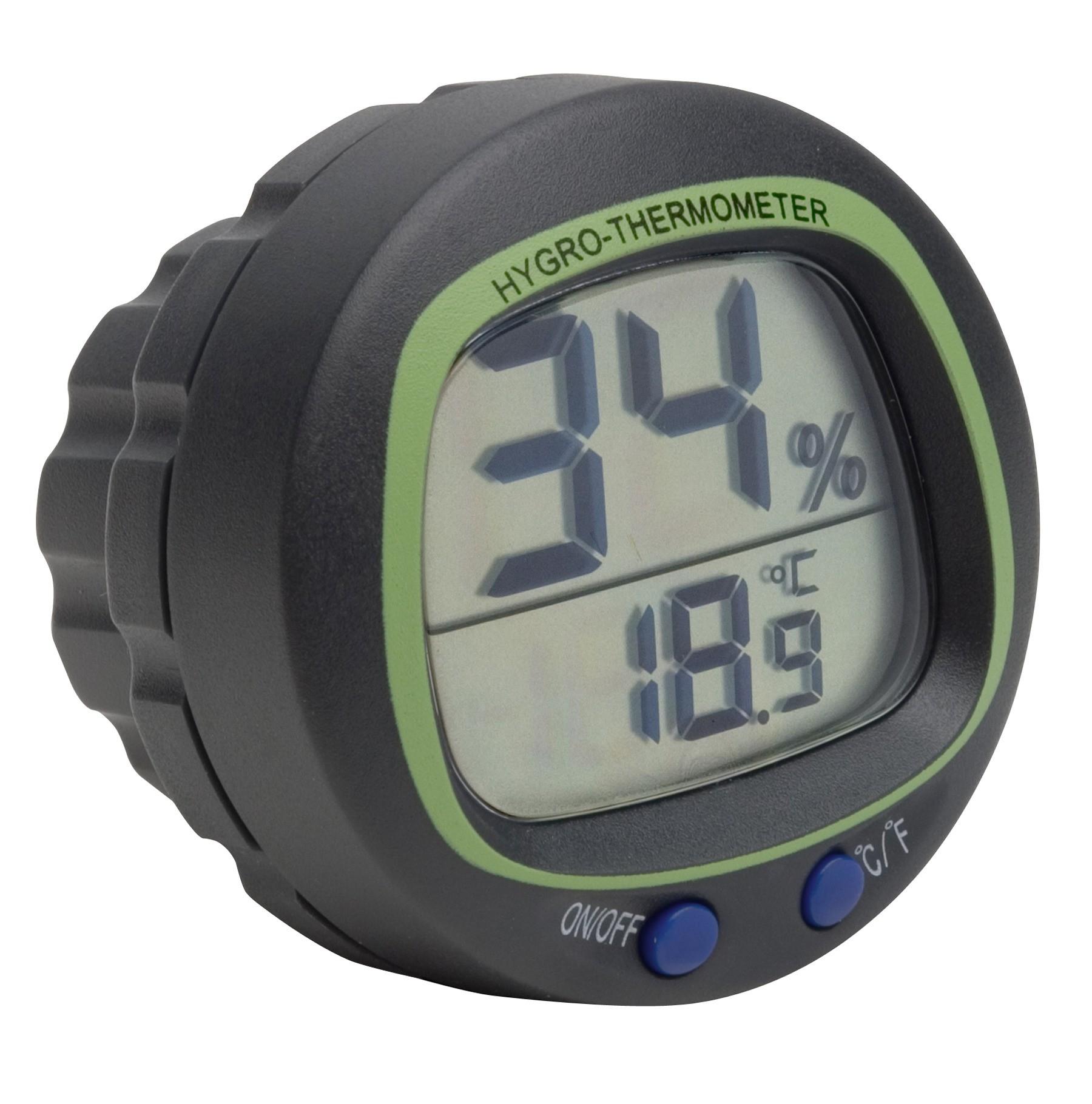 H-B DURAC Electronic Thermometer-Hygrometer, Panel Mount