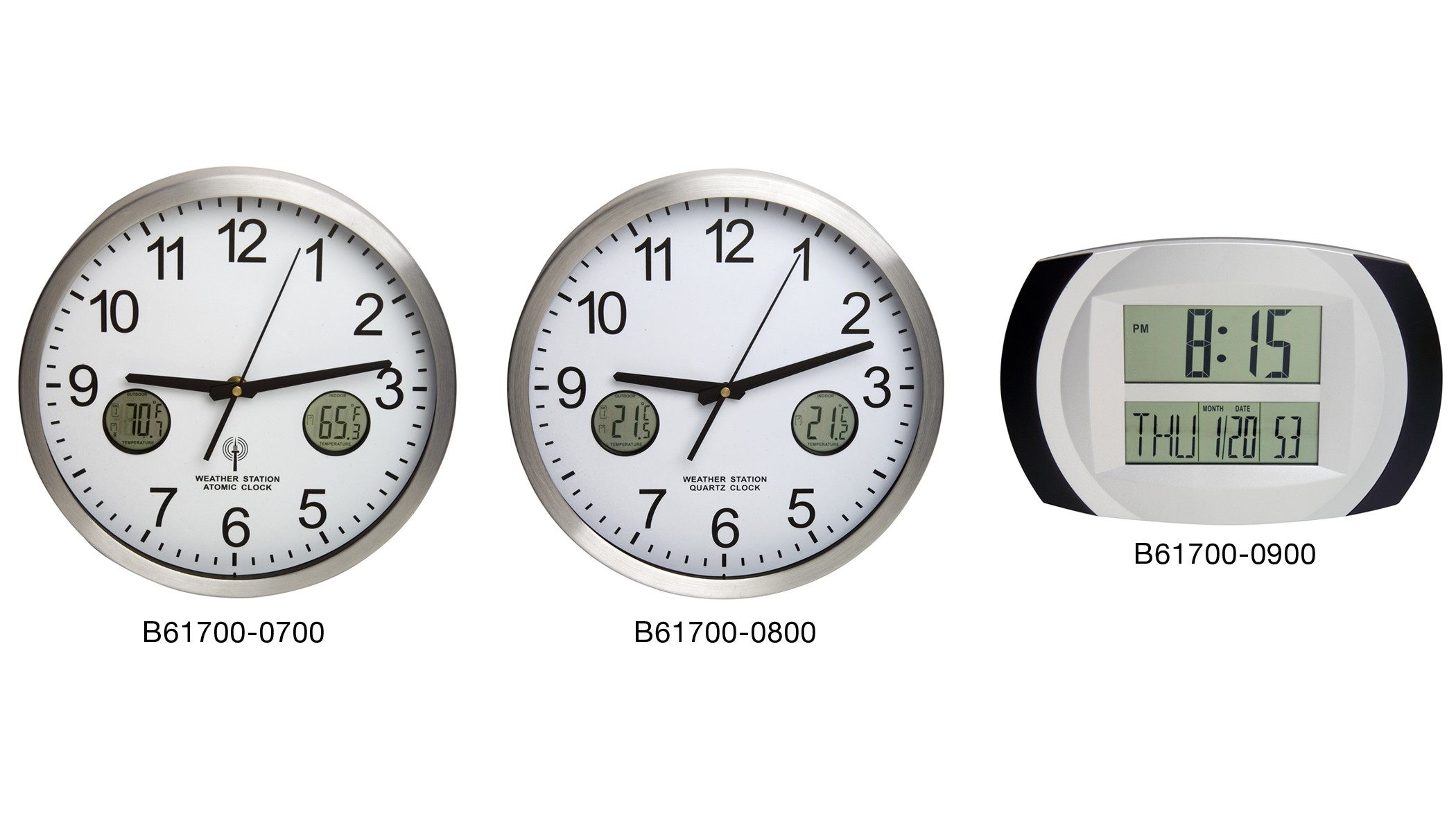 H-B DURAC Multi-Function Digital Clocks