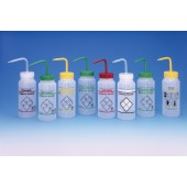 2-Color Wash Bottles – Safety-Vented and Safety Labeled, Wide-Mouth