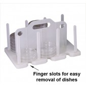 Contact Plate / Petri Dish Racks - White Polypropylene