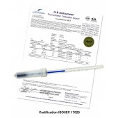 H-B DURAC Plus Calibrated Dry Block/Incubator Liquid-In-Glass Thermometers; Partial Immersion, Organic Liquid Fill