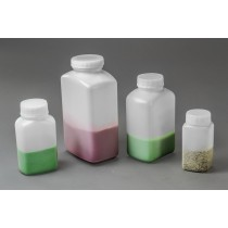Polystormor Square Edge, Wide-Mouth Bottles