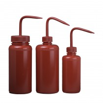 Red Wash Bottles