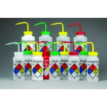 GHS Labeled Right-to-Know, Safety-Vented Wash Bottles