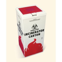 Cover for Biohazard Incinerator Disposal Carton