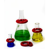 Round Lead Ring Flask Weights with Vikem Vinyl Coating