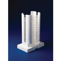 Adjustable Width Petri Dish Dispenser Rack