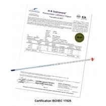 H-B DURAC Plus Individually Calibrated Liquid-In-Glass Thermometers; Organic Liquid Fill