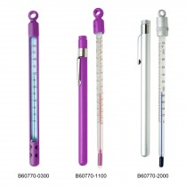 H-B DURAC Plus Pocket Liquid-In-Glass Laboratory Thermometers, Organic Liquid Fill