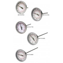"H-B DURAC Bi-Metallic Dial Thermometer with 1/2"" NPT Threaded Connection"