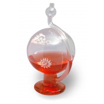 **OVERSTOCK**   H-B DURAC Glass Weather Ball Barometer