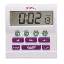 H-B DURAC 4-Channel Electronic Timer and Clock with Certificate of Calibration