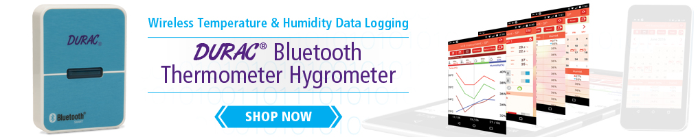 Image:   H-B Durac Bluetooth Thermometer Hygrometer with 30 Day Logging